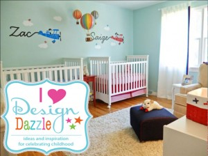 twins-nursery-wall-and-cribs-600x450
